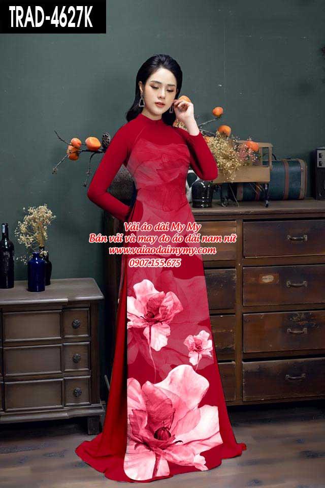 Vải áo dài hoa 3D AD TRAD 4627 10