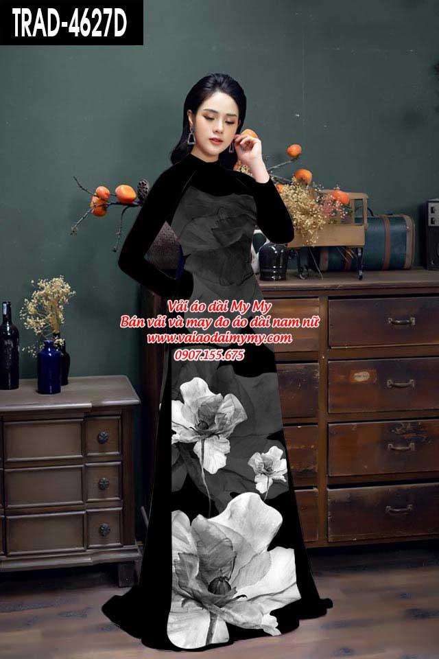 Vải áo dài hoa 3D AD TRAD 4627 4