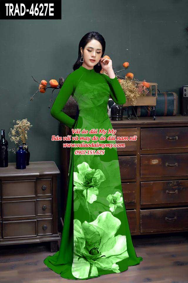 Vải áo dài hoa 3D AD TRAD 4627 5