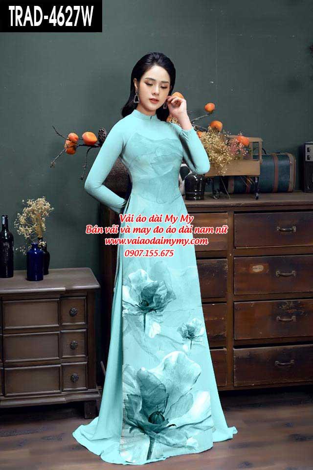 Vải áo dài hoa 3D AD TRAD 4627 17