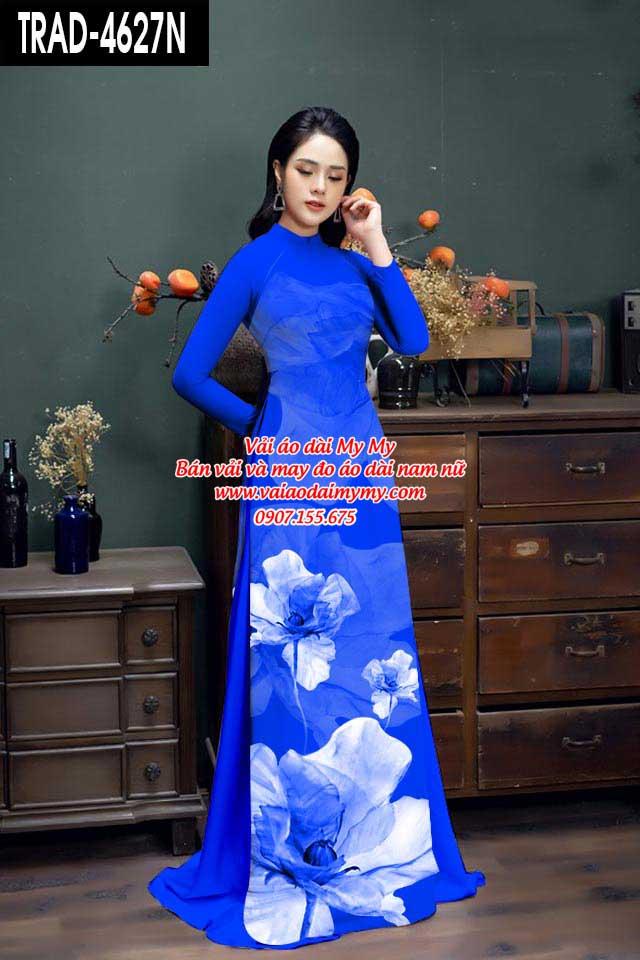 Vải áo dài hoa 3D AD TRAD 4627 13