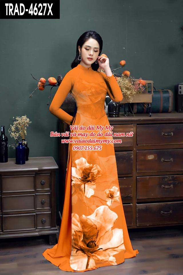 Vải áo dài hoa 3D AD TRAD 4627 18