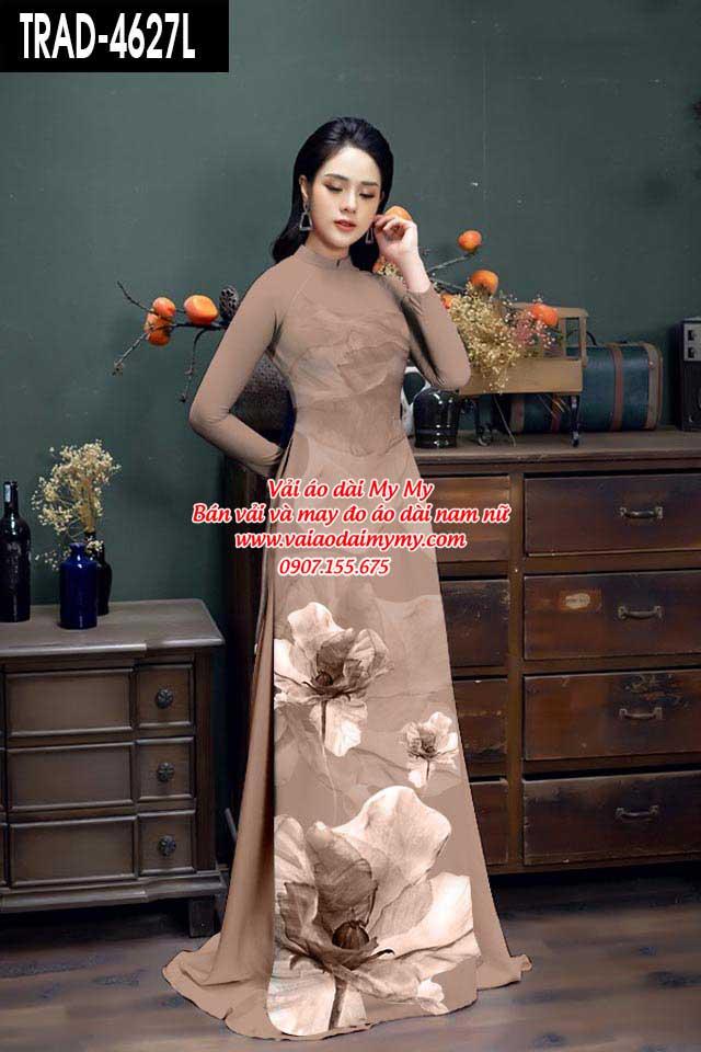 Vải áo dài hoa 3D AD TRAD 4627 11