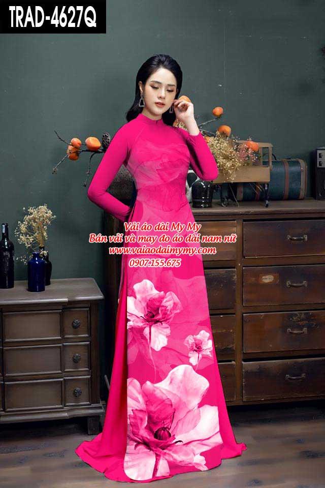 Vải áo dài hoa 3D AD TRAD 4627 14