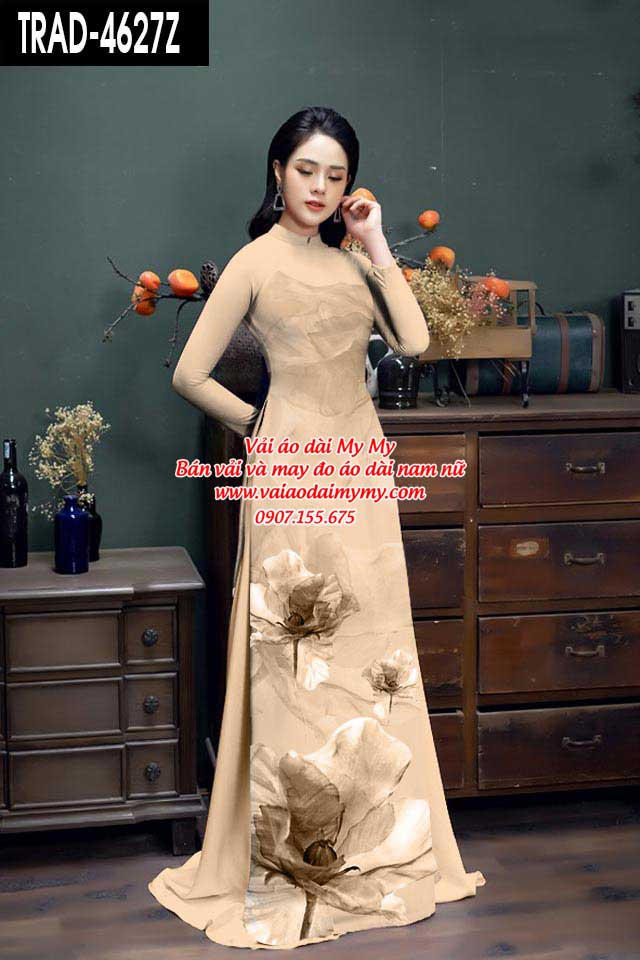 Vải áo dài hoa 3D AD TRAD 4627 19