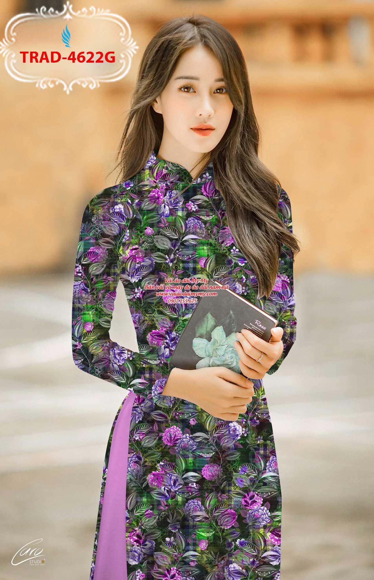 Vải áo dài hoa đều AD TRAD 4622 1