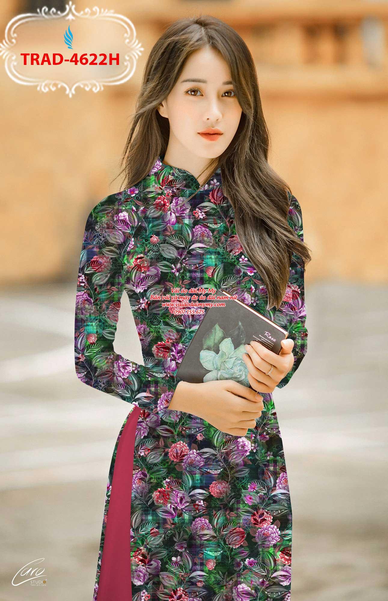 Vải áo dài hoa đều AD TRAD 4622 4