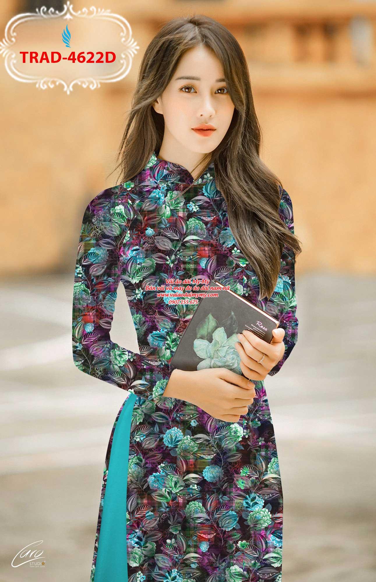 Vải áo dài hoa đều AD TRAD 4622 2