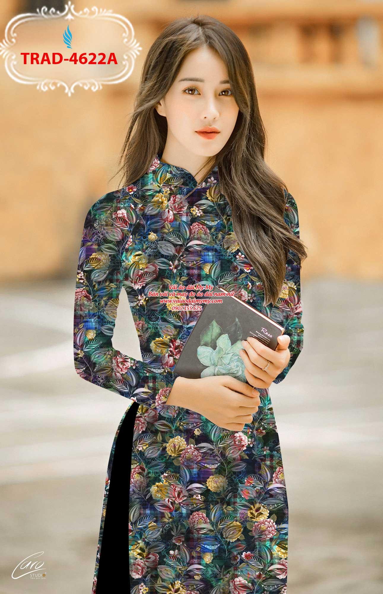 Vải áo dài hoa đều AD TRAD 4622 3
