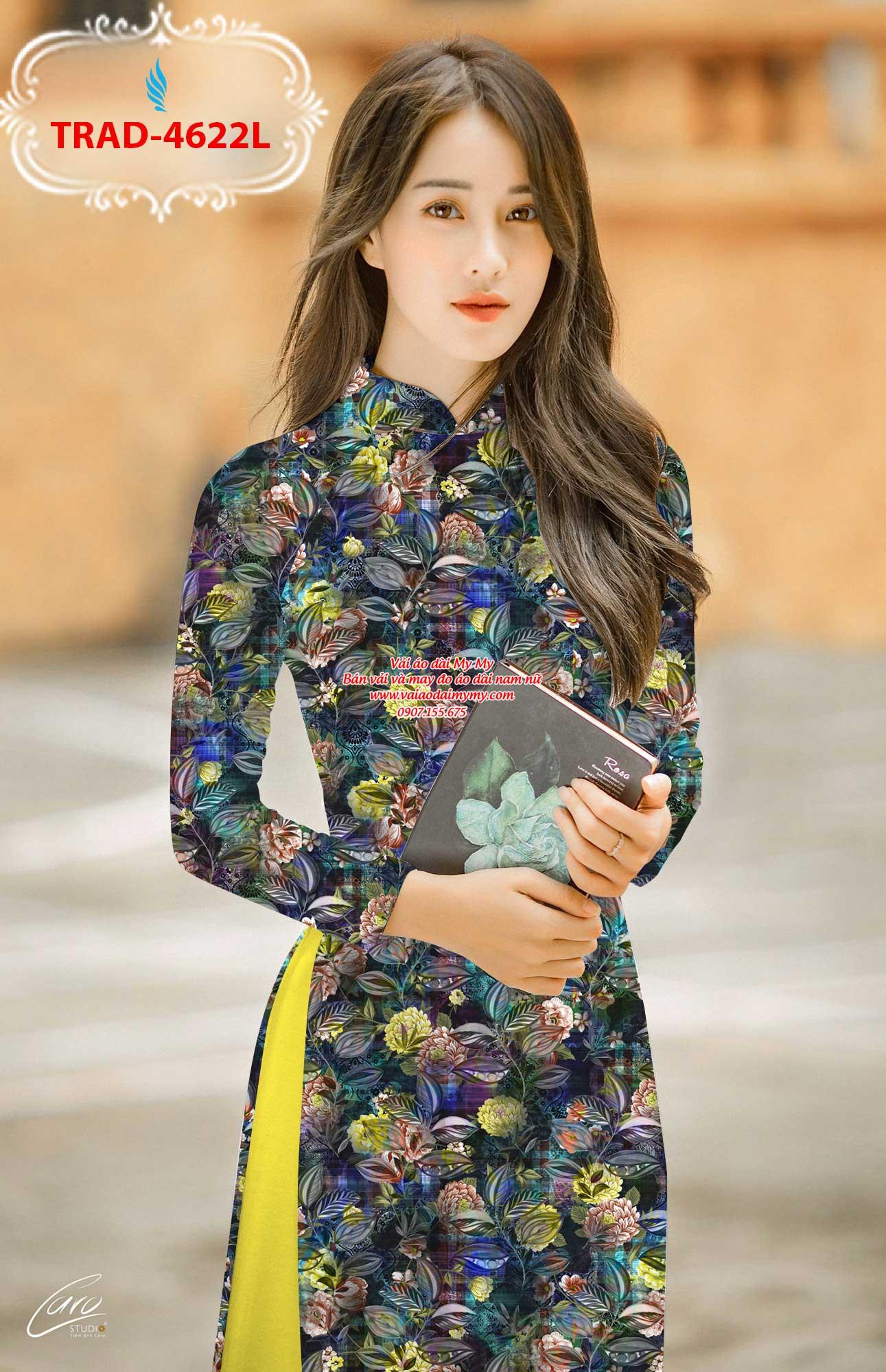 Vải áo dài hoa đều AD TRAD 4622 7