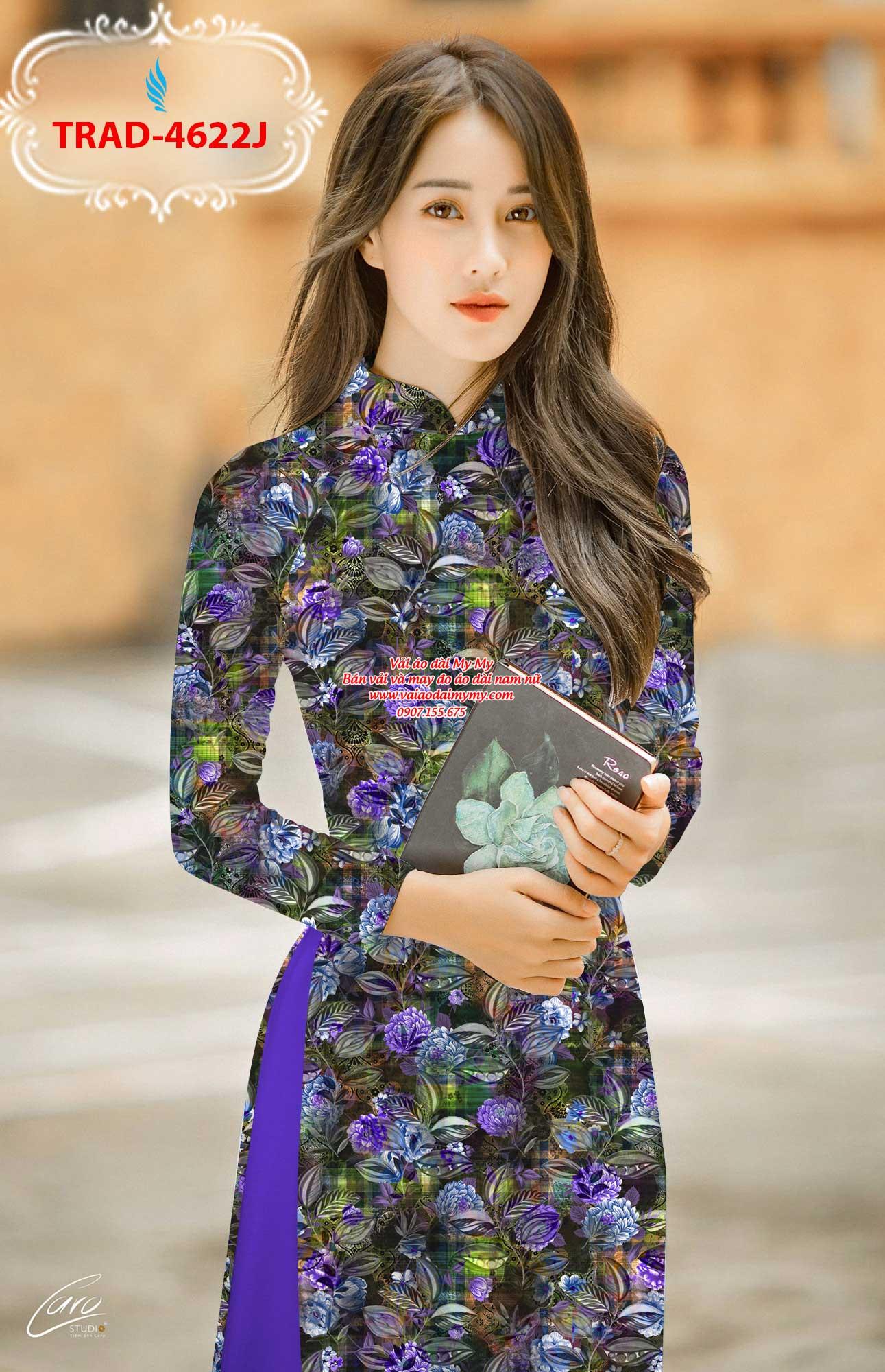 Vải áo dài hoa đều AD TRAD 4622 6