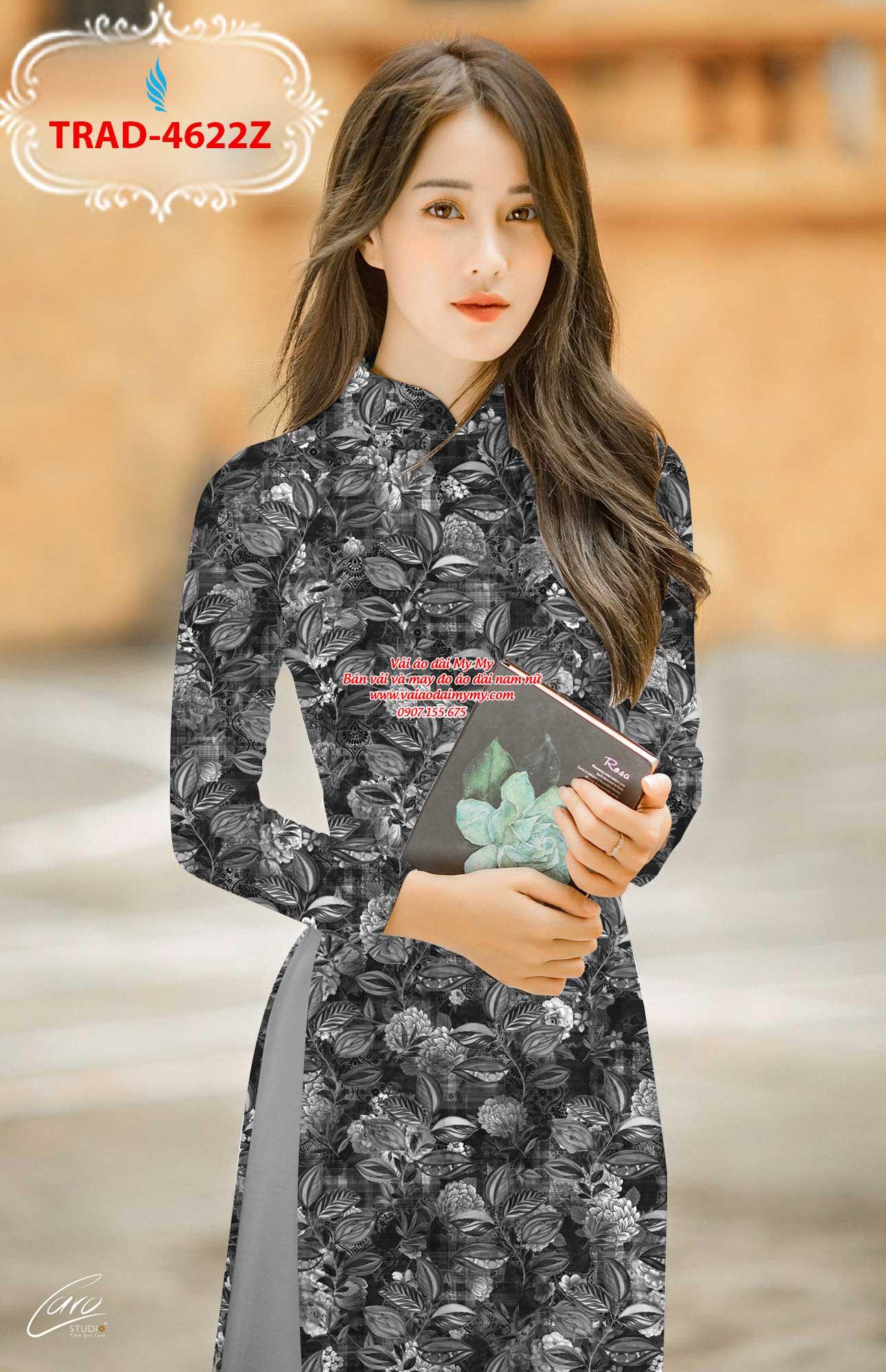 Vải áo dài hoa đều AD TRAD 4622 9