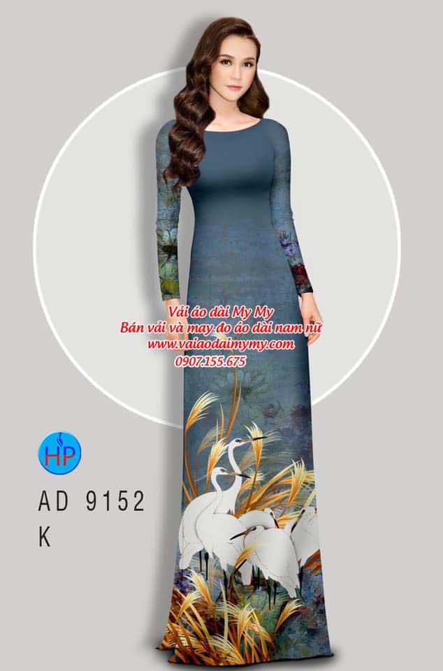 Vải áo dài Sếu AD 9152 5