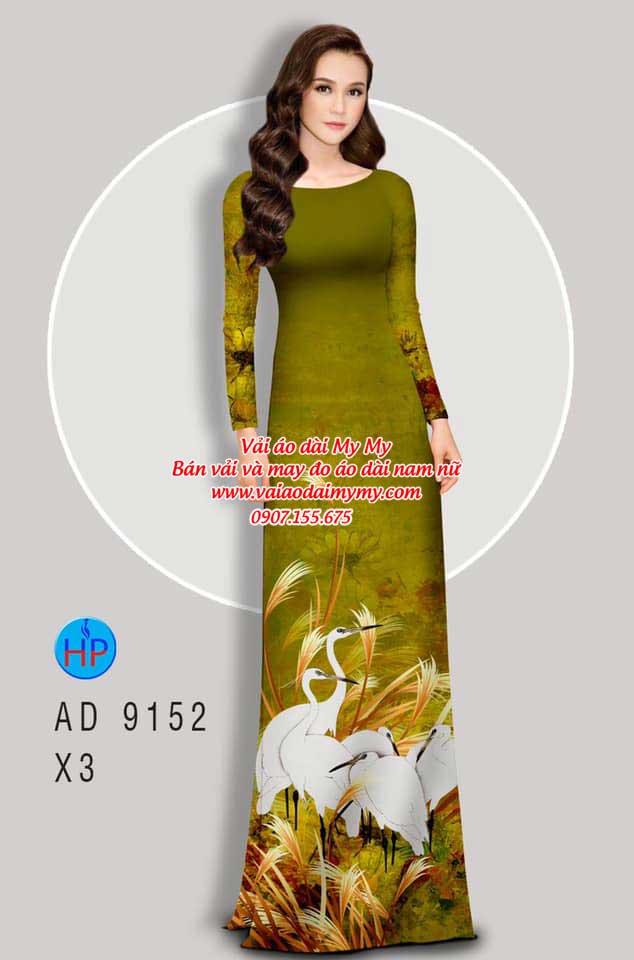 Vải áo dài Sếu AD 9152 16