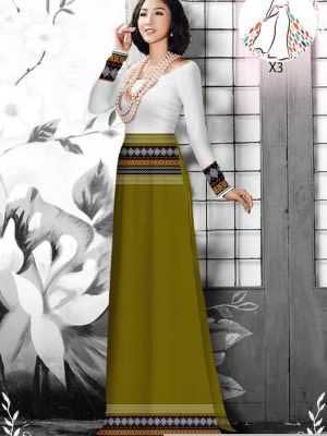 Vải áo dài hoa văn thổ cẩm AD 10044 20