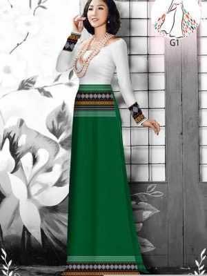 Vải áo dài hoa văn thổ cẩm AD 10044 27