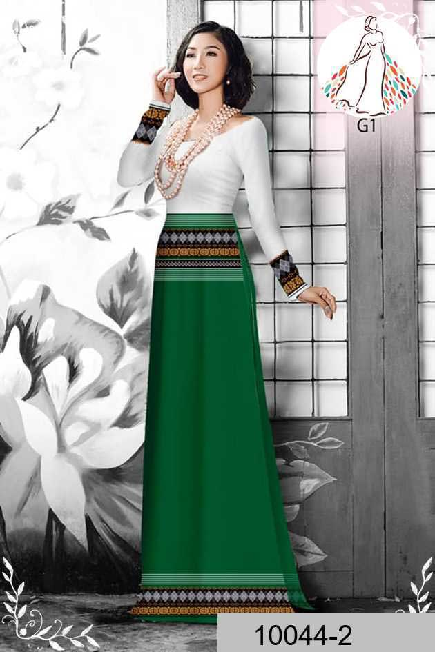 Vải áo dài hoa văn thổ cẩm AD 10044 45