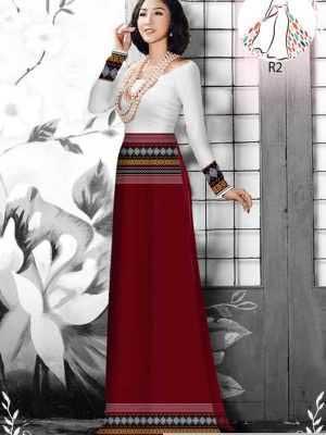 Vải áo dài hoa văn thổ cẩm AD 10044 23