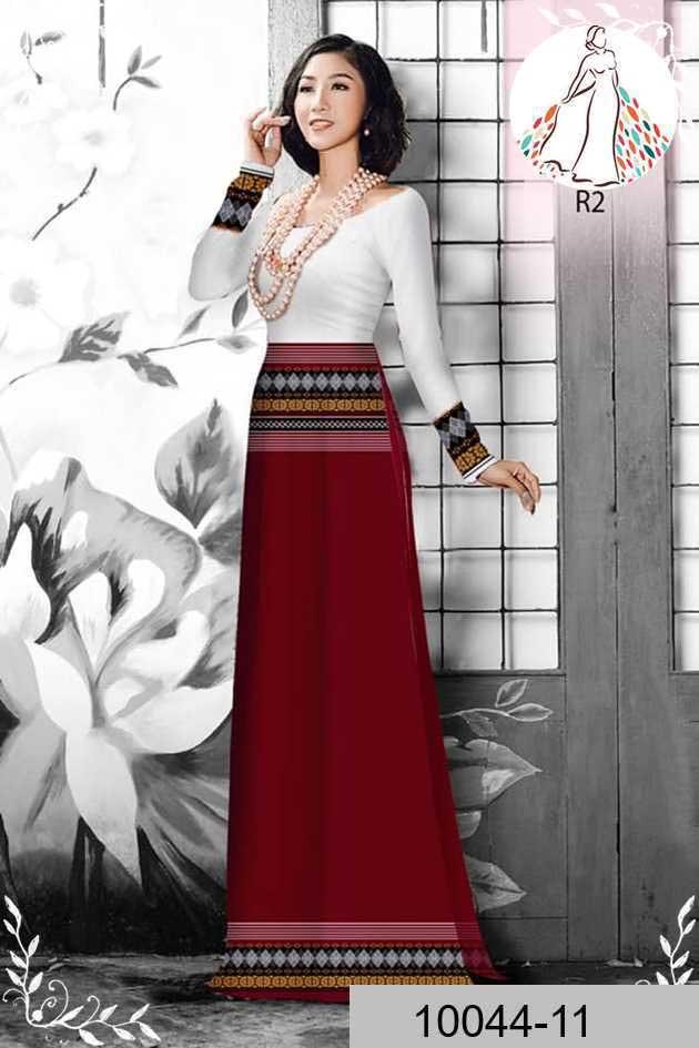 Vải áo dài hoa văn thổ cẩm AD 10044 42