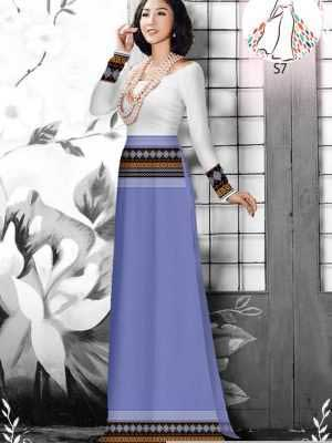 Vải áo dài hoa văn thổ cẩm AD 10044 24
