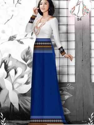 Vải áo dài hoa văn thổ cẩm AD 10044 29