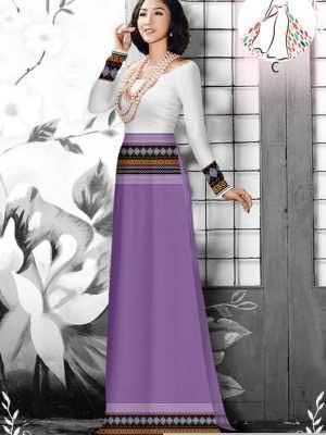 Vải áo dài hoa văn thổ cẩm AD 10044 33