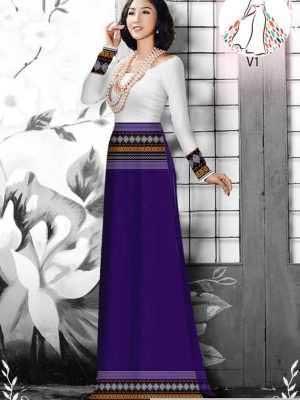 Vải áo dài hoa văn thổ cẩm AD 10044 28