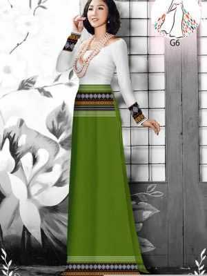 Vải áo dài hoa văn thổ cẩm AD 10044 31
