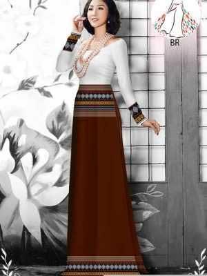 Vải áo dài hoa văn thổ cẩm AD 10044 30
