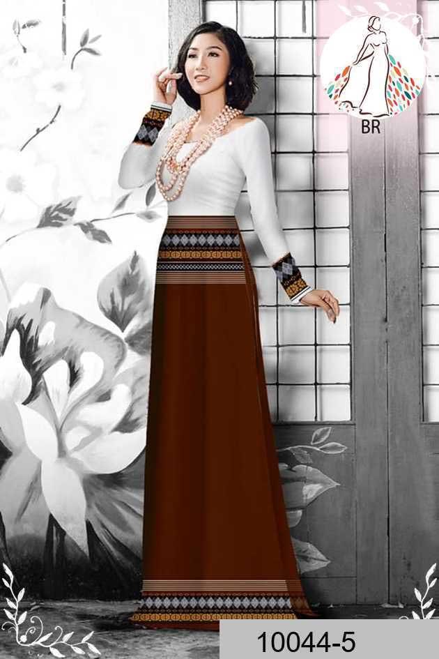 Vải áo dài hoa văn thổ cẩm AD 10044 48