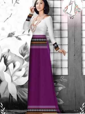 Vải áo dài hoa văn thổ cẩm AD 10044 35