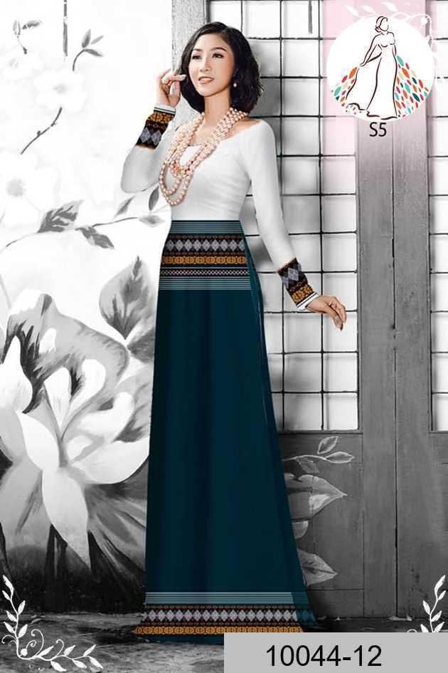 Vải áo dài hoa văn thổ cẩm AD 10044 52