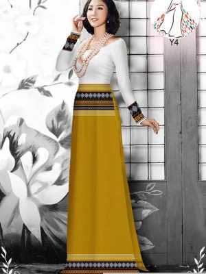 Vải áo dài hoa văn thổ cẩm AD 10044 36