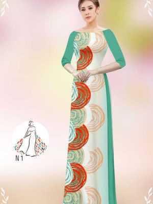 Vải áo dài hoa văn tròn AD 14449 21