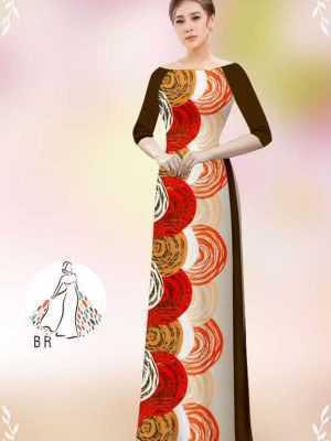 Vải áo dài hoa văn tròn AD 14449 19