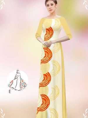 Vải áo dài hoa văn tròn AD 14449 28