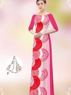 Vải áo dài hoa văn tròn AD 14449 26