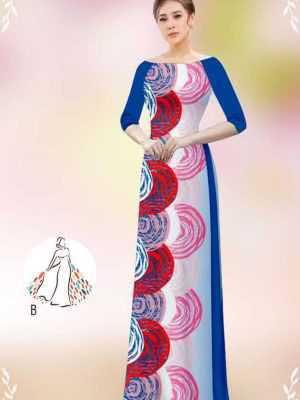 Vải áo dài hoa văn tròn AD 14449 25