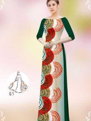 Vải áo dài hoa văn tròn AD 14449 29