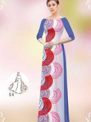 Vải áo dài hoa văn tròn AD 14449 24