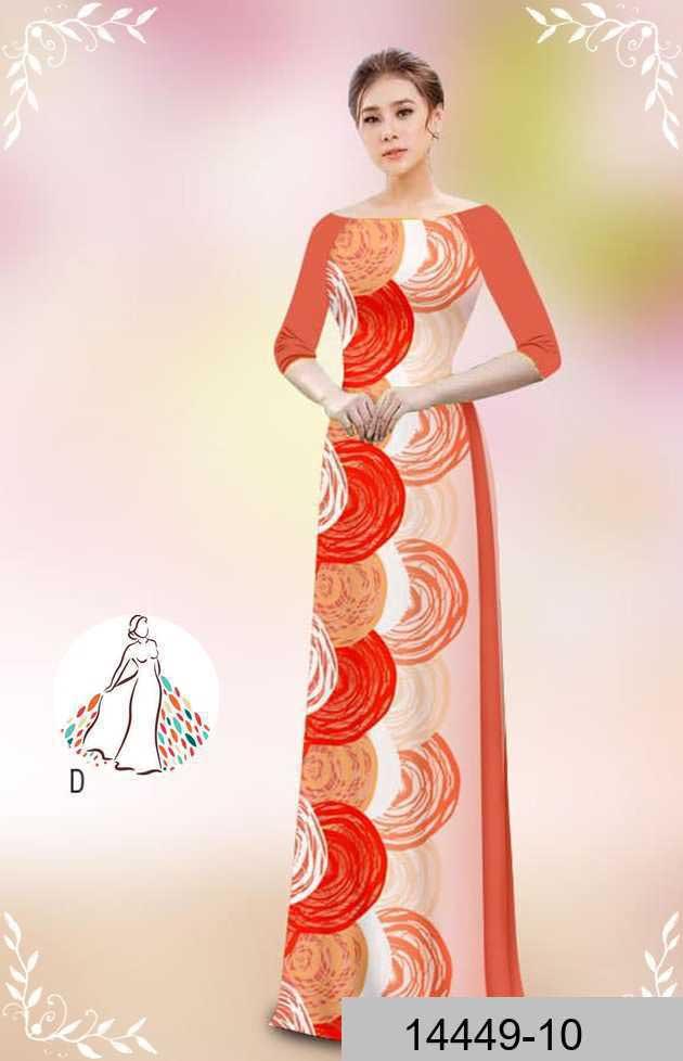 Vải áo dài hoa văn tròn AD 14449 49