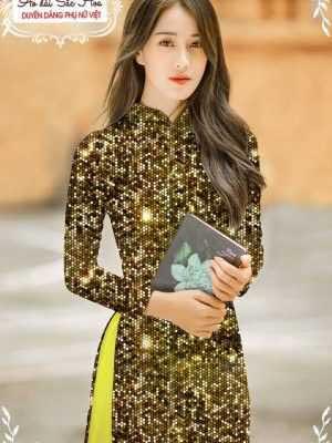 Vải áo dài lấp lánh 3D AD T7465 21