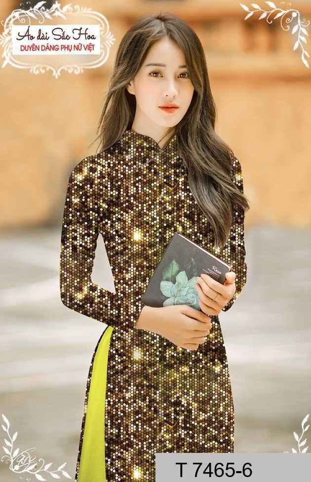 Vải áo dài lấp lánh 3D AD T7465 25