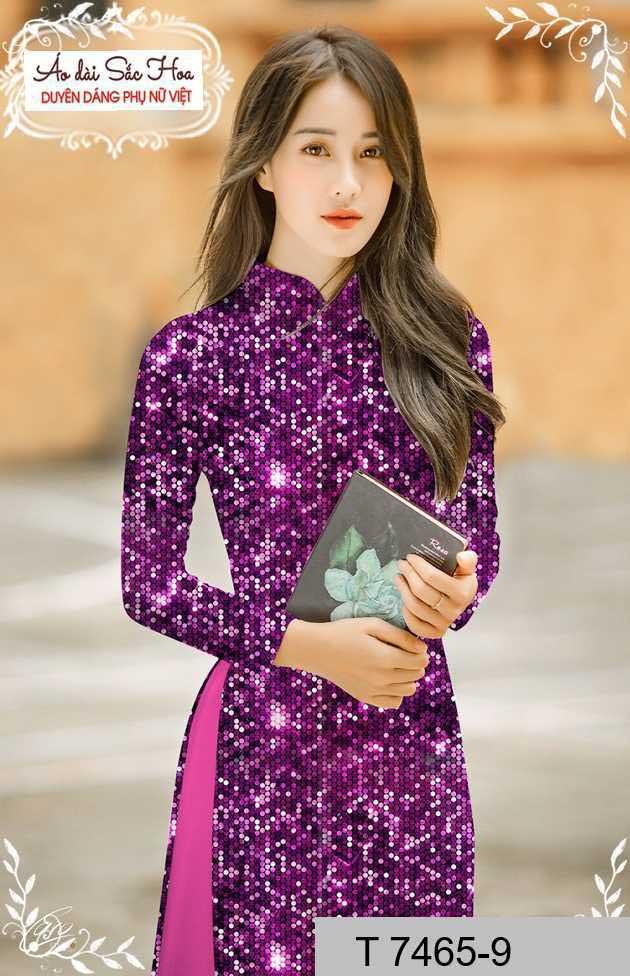 Vải áo dài lấp lánh 3D AD T7465 28