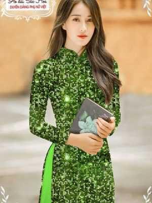 Vải áo dài lấp lánh 3D AD T7465 17