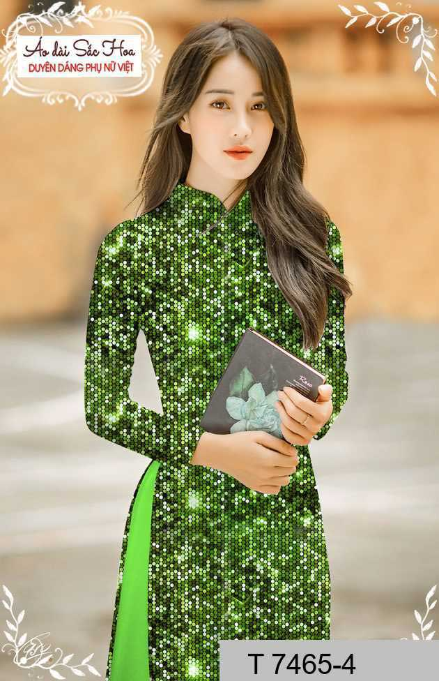 Vải áo dài lấp lánh 3D AD T7465 30