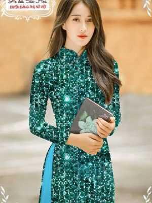 Vải áo dài lấp lánh 3D AD T7465 13