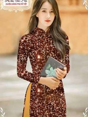 Vải áo dài lấp lánh 3D AD T7465 16