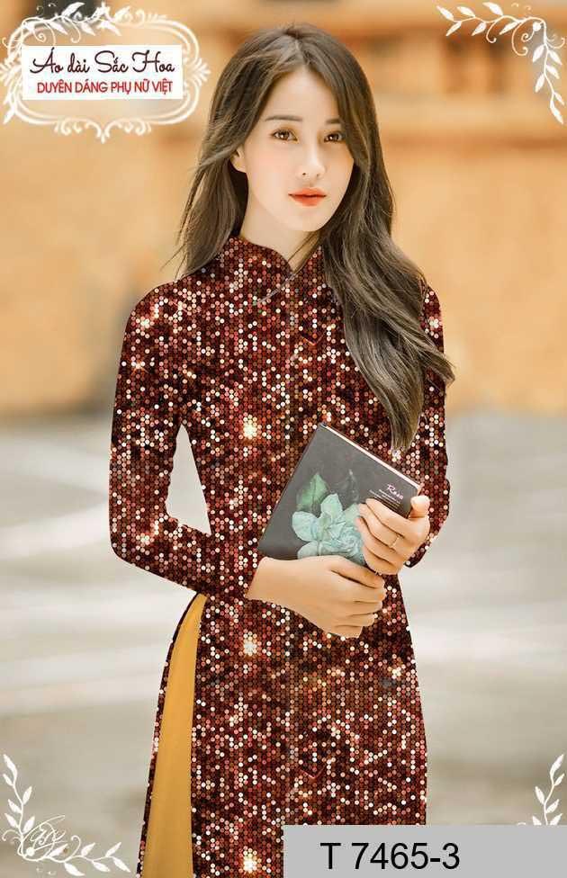 Vải áo dài lấp lánh 3D AD T7465 29