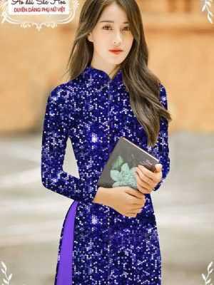 Vải áo dài lấp lánh 3D AD T7465 14